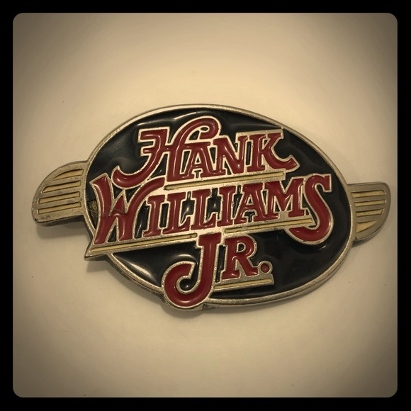 Accessories Vintage Hank Williams Jr Belt Buckle Original Poshmark